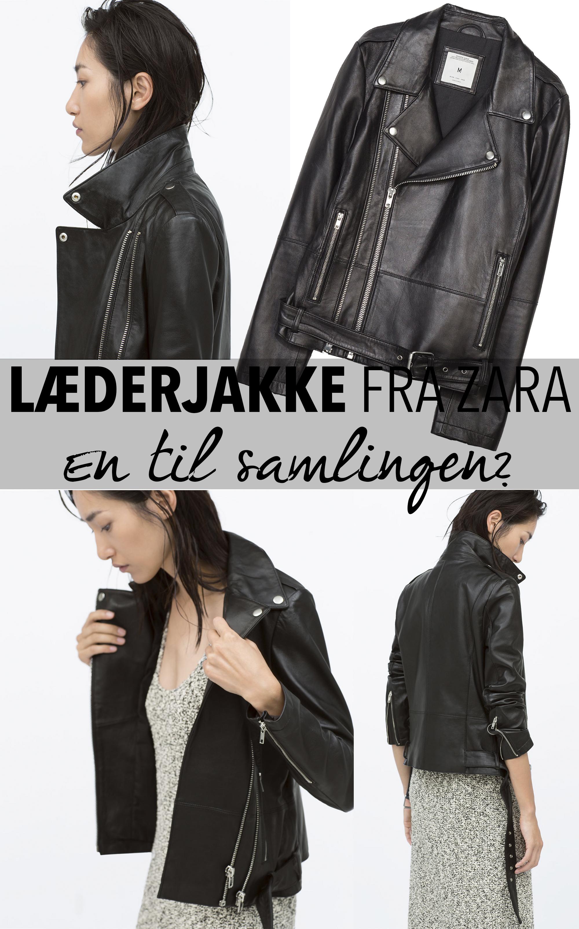Læderjakke fra Zara
