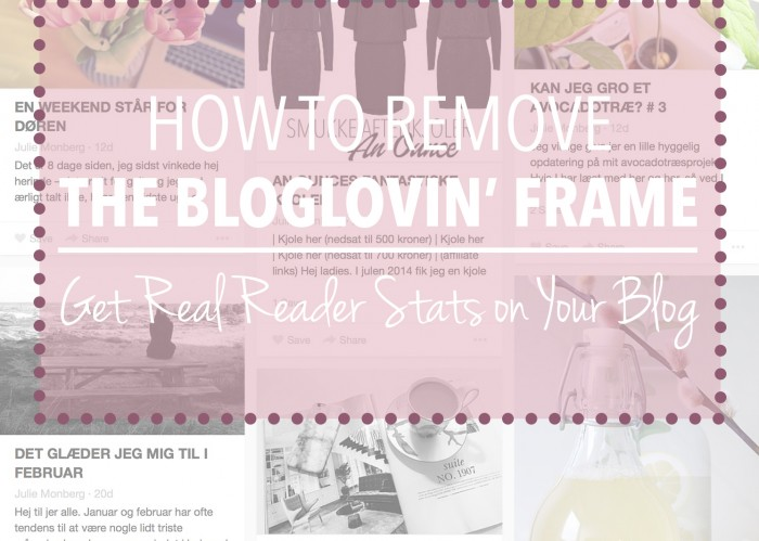 How to remove the Bloglovin' Frame