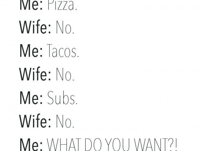 You pick dinner